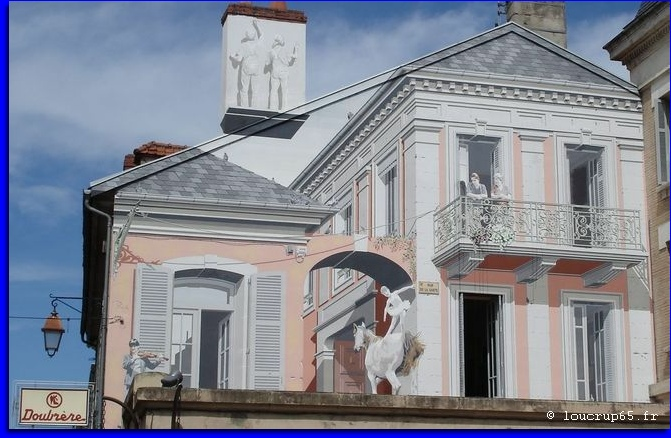 peinture trompe oeil rue